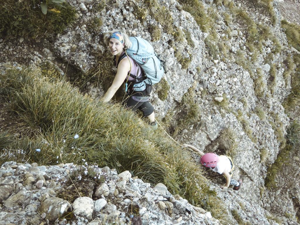 Klettersteig Speer : Detailansicht u eu e speer m kletterweg chüemettler