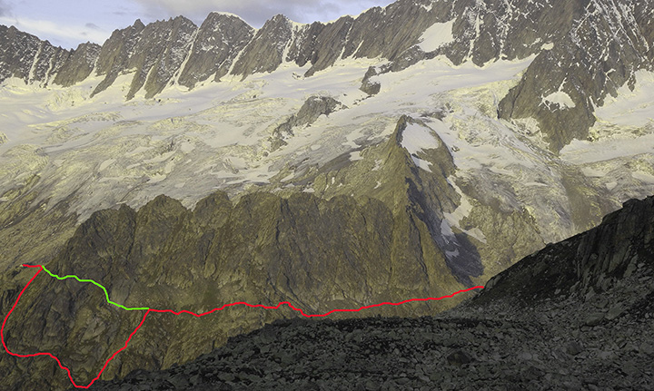 Neuer Verbindungsweg Dammahütte Chelenalphütte